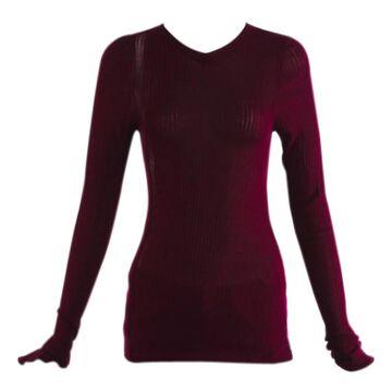 Victoria Beckham Purple Cotton Knitwear