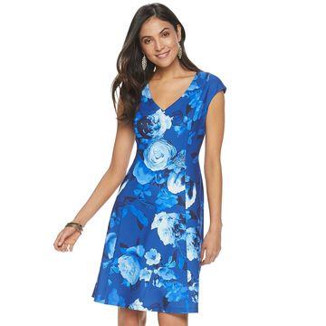 Women's Apt. 9 Floral Fit & Flare Dress