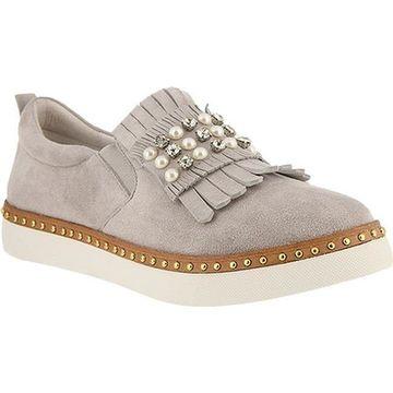 Azura Women's Marialuv Slip On Sneaker Grey Suede