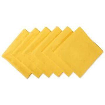 Design Imports Aqua Cotton Napkin Set (Set of 6) (Marigold)