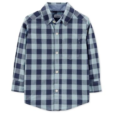 Toddler Boys Plaid Cotton Shirt