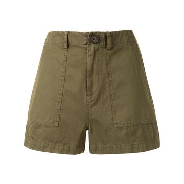 high-rise fitted shorts
