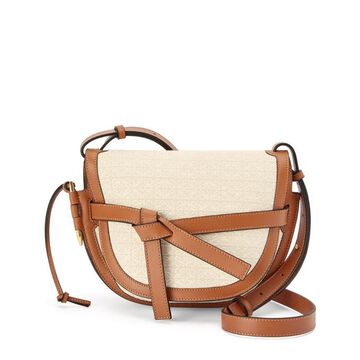 Loewe Small Canvas-Leather Gate Dual Bag