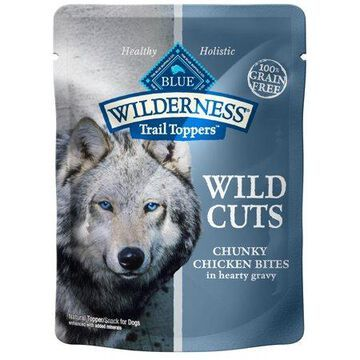 Blue Buffalo Wilderness Trail Toppers Chunky Chicken Bites Wet Dog Food, 3-oz pouch