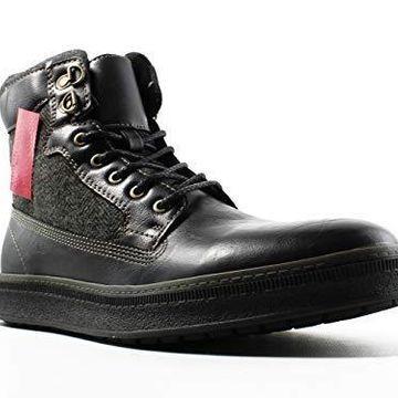 Call It Spring Men's Safforze Winter Boot, Black Synthetic, 7 D US
