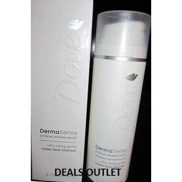 Dove DermaSeries Extreme Dryness Relief Ultra Caring Gentle Cream Face Cleanser 5.1 oz.
