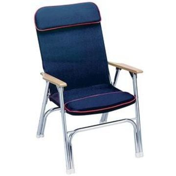 Seachoice Canvas Folding Chair, Blue