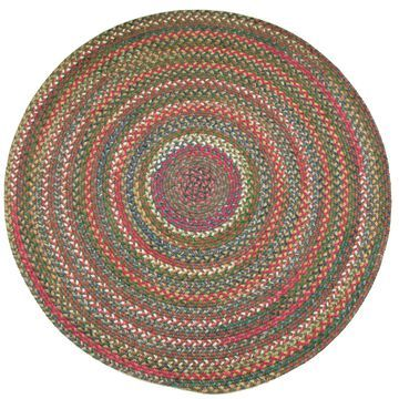 Rhody Rug Charisma Indoor/ Outdoor Multicolor Braided Rug