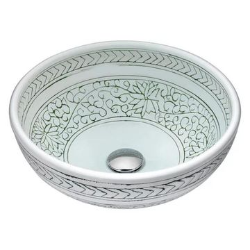 ANZZI Cadence Series Vessel Sink in Decor White