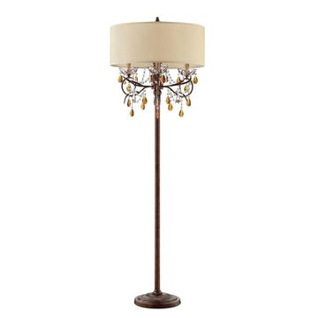 Magnolia Candlebra Floor Lamp Brown - Ore International