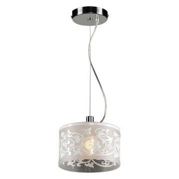 PLC Lighting 1-Light Mini Pendant Tuxedo Collection 81821 WHITE
