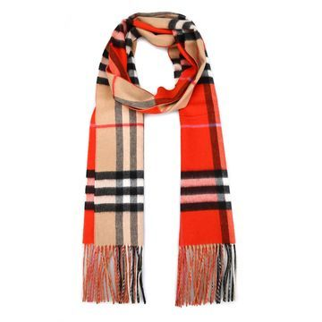 Burberry Reversable Giant Check Cashmere Scarf