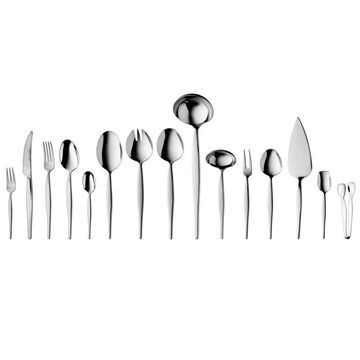 BergHOFF Essentials 72Pc 18/10 SS Flatware Set (Serve for 12), Finesse Stainless Steel