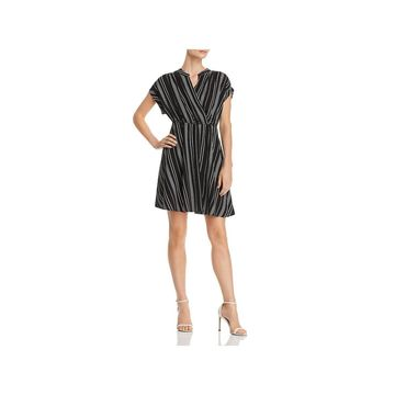 Vero Moda Womens Shirtdress Faux-Wrap Cuff-Sleeve