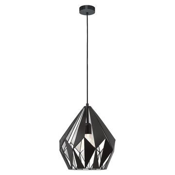 Eglo Carlton 1 Black and Silver 1-Light Geometric Pendant