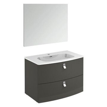 Rondo 80F Complete Vanity Unit, Anthracite, With Mirror