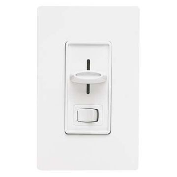 LUTRON CTELV-303P-WH Lighting Dimmer,Slide,Decora,300W,White