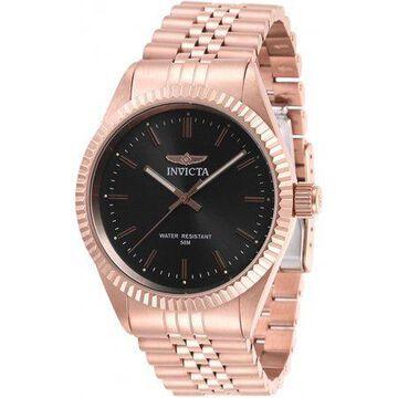 Invicta Men's Specialty 29389 Quartz 3 Hand Charcoal Dial Watch