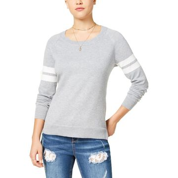 Hippie Rose Womens Juniors Casual Striped Sweater
