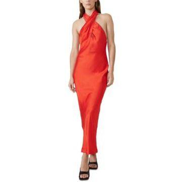 Bardot Claudia Bias-Cut Halter Gown