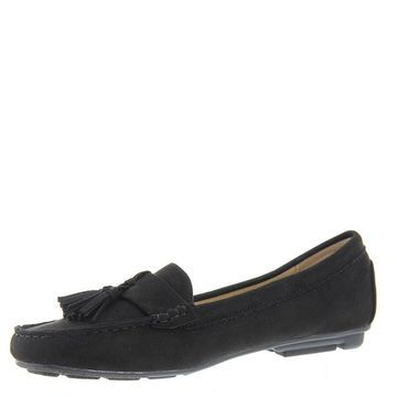 Masseys Womens Cate Leather Square Toe Loafers