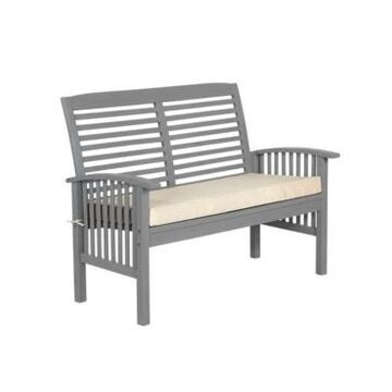 Walker Edison Outdoor Love Seat With Cushion