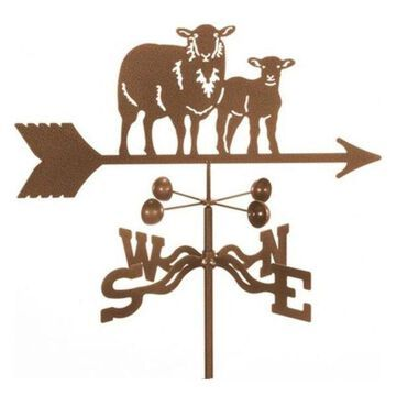 EZ Vane Sheep With Lamb Weathervane, Deck Mount