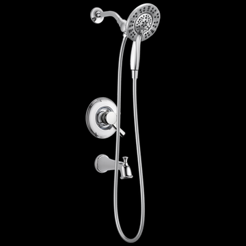 Delta Linden Monitor 17 Series Tub and Shower Trim with In2ition Two-in-One Shower in Chrome T17493-I