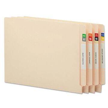 Smead Monthly End Tab File Folder Labels Assorted Colors 250 per Month 3000/Box