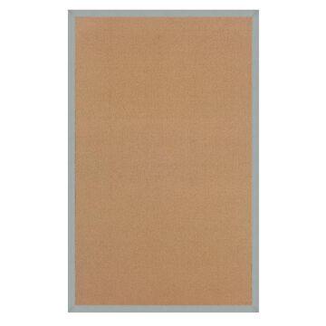 Linon Athena 5 x 8 Cork/Black Wool Indoor Border Area Rug | RUG-AT030958