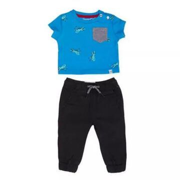Sovereign Code Size 3M 2-Piece Berman Tee and Pant Set in Blue/Black