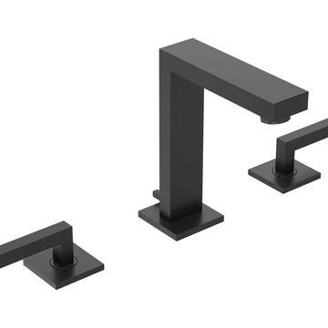 Symmons Duro Matte Black 2-handle Widespread WaterSense Bathroom Sink Faucet | SLW-3612-MB-1.0