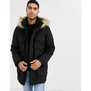 New Look traditional parka in black