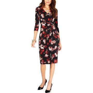 Thalia Sodi Womens Party Floral Cocktail Dress