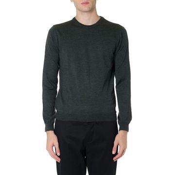 Zanone Grey Virgin Wool Knitwear