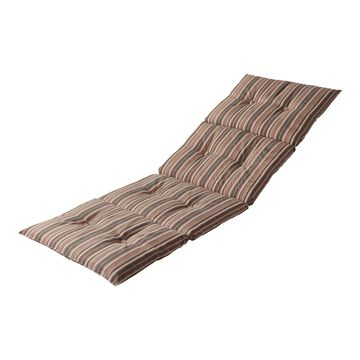 Greendale Home Fashions Outdoor Lightweight Natural Stripe Chaise Lounge Pad