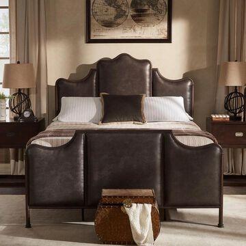 Cade Antique Dark Bronze Metal Queen Bed by iNSPIRE Q Classic (Queen)