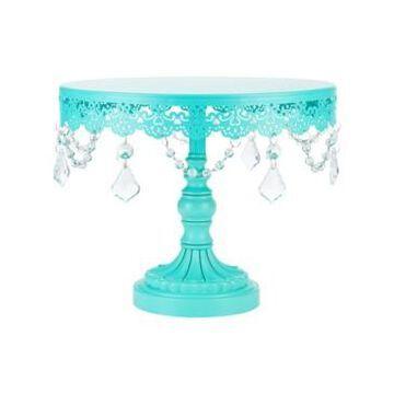 "Amalfi Sophia 10"" Crystal-Draped Cake Stand"