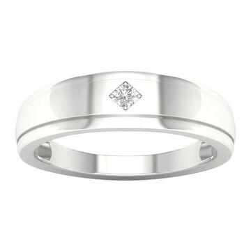 IGI Certified 1/20ct TDW Diamond Men's Wedding Band in 10k Gold by De Couer