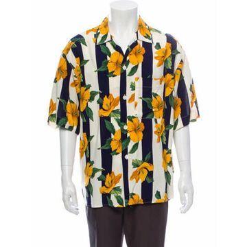 Floral Print Short Sleeve Shirt Yellow
