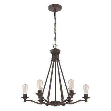 Jeremiah Lighting 37826-ABZ Hadley Chandelier, Aged Bronze