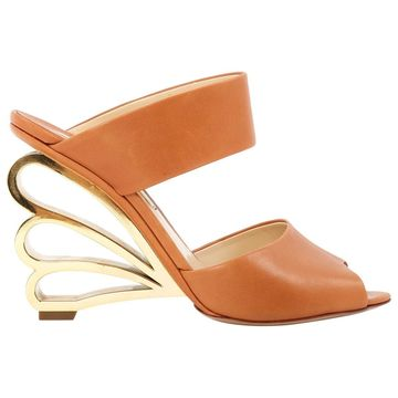Nicholas Kirkwood Brown Leather Sandals