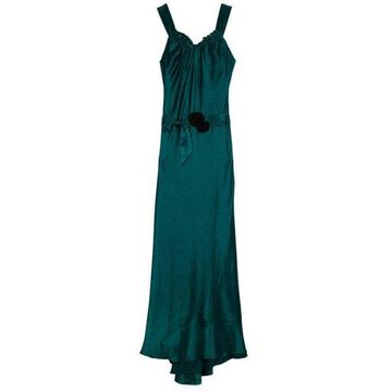 Vera Wang Flowing Satin Evening Gown M