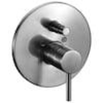 ALFI brand ALFI brand AB1701-BN Brushed Nickel Pressure Balanced Round Shower Mixer with Diverter