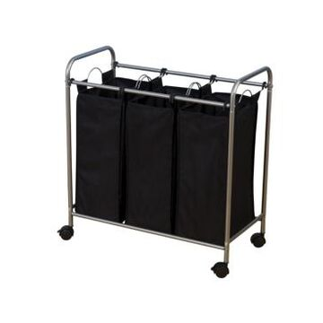 Household Essentials Rolling Triple Laundry Sorter