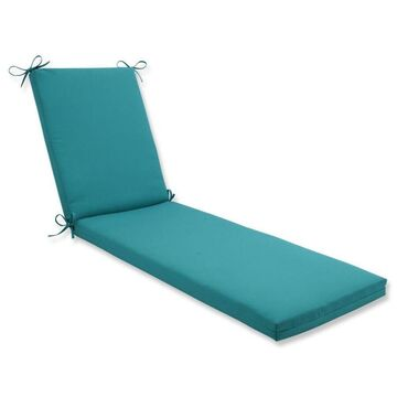 Pillow Perfect Colefax Aquamarine Blue Patio Chaise Lounge Chair Cushion Polyester