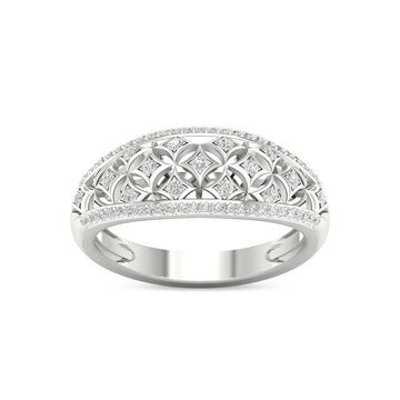 De Couer 10k White Gold 1/5ct TDW Diamond Fashion Ring - White H-I - White H-I