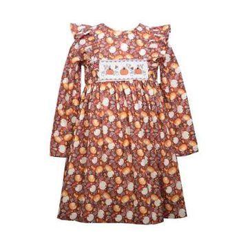 Bonnie Jean Girls' Girls 4-6X Pumpkin Harvest Dress - -