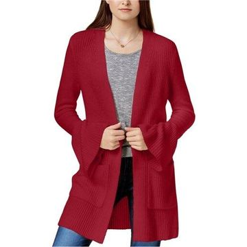 Kensie Womens Bell Sleeve Cardigan Sweater
