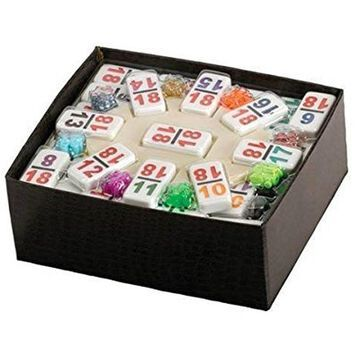 Double 18 Professional Sized Mexican Train Dominoe Set